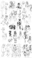 Huge sketch collection by Ninjin-nezumi
