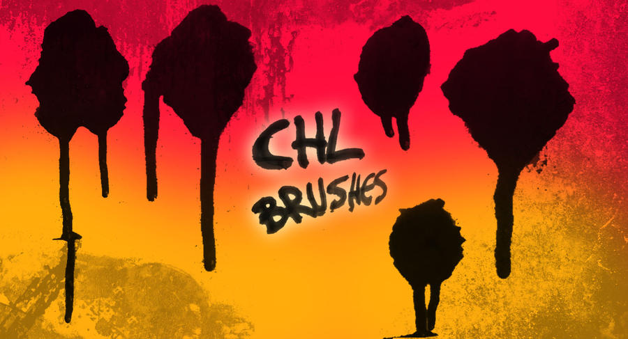 Chl Paint drip brushes