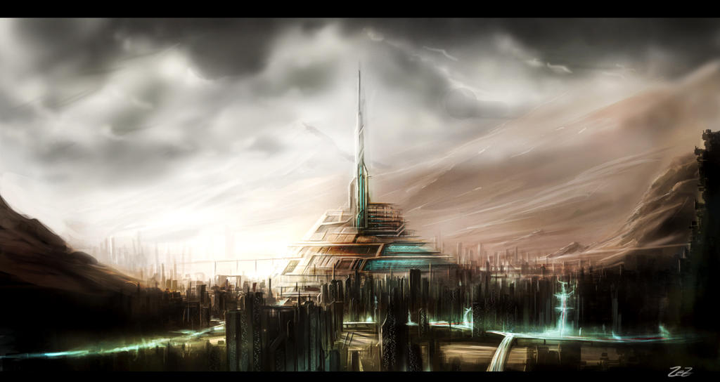 Futuristic City by Brehnman