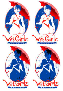Wet Girlz Magazine Logo Concepts