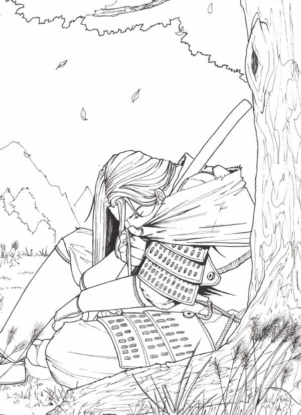 Resting Samurai by Asashi-Kami