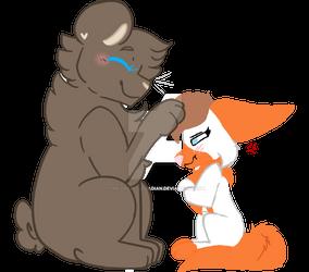 Big bear and tiny fox (collab )