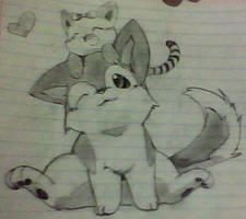 random: dog and cat by KoriArredondo