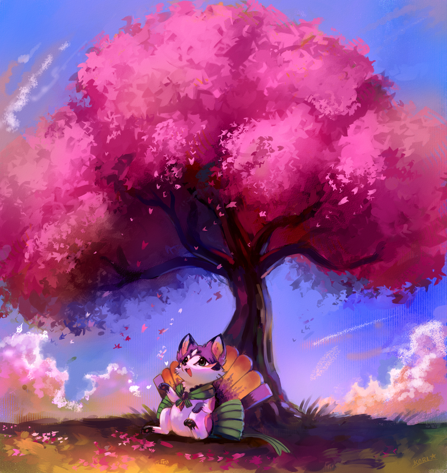 :commission: Cherry blossom petals by kori7hatsumine