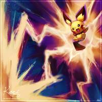 :C: Pichu used thunderbolt by KoriArredondo
