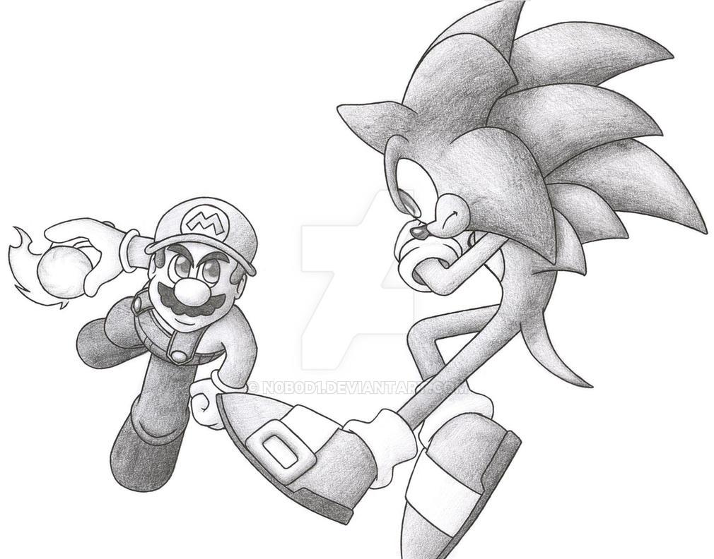 Mario Vs Sonic by N0B0D1 on DeviantArt