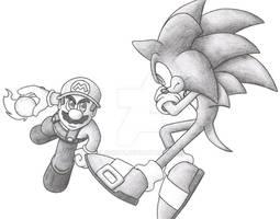 Mario Vs. Sonic by N0B0D1