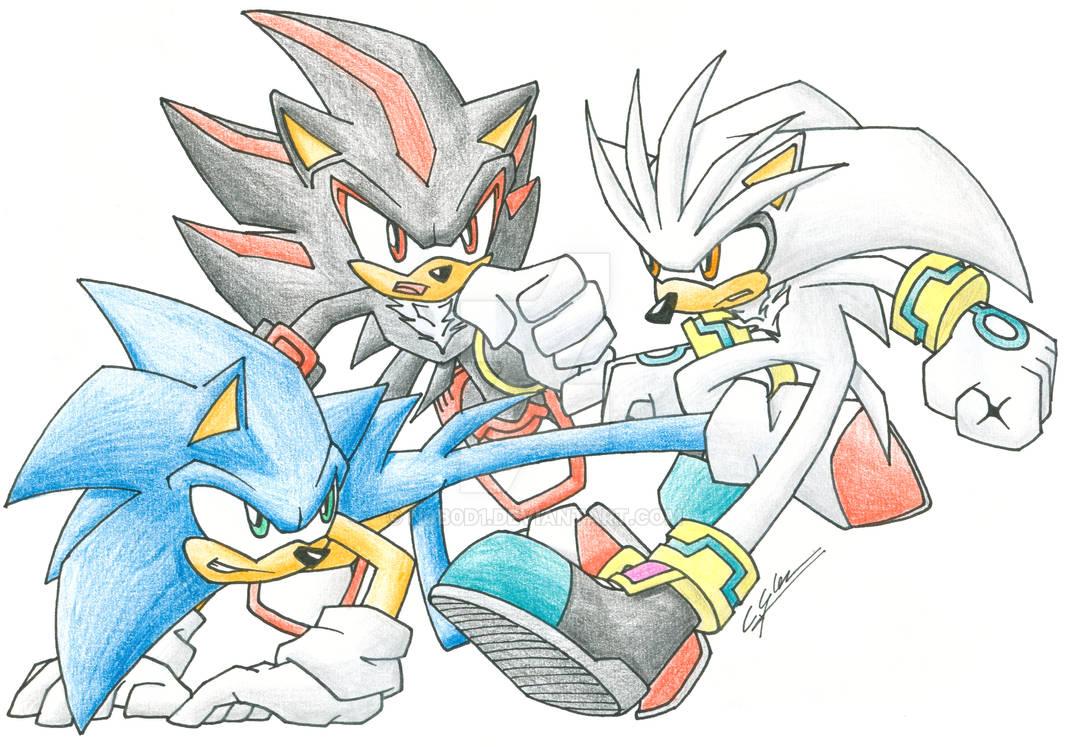 Sonic vs Shadow vs Silver