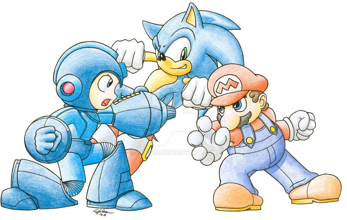 Megaman vs Sonic vs Mario