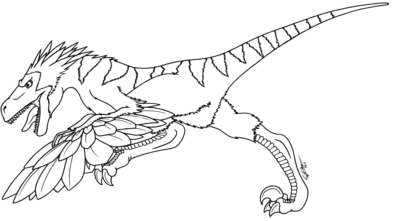 dinosaurus utah raptor coloring pages - photo#27