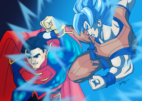 Kal-El vs Kakarot - Blue version by N0B0D1