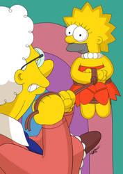 Restrained Lisa