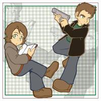 SPN - Mini Winchesters by kishokahime