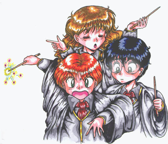 Harry potter chibi kids by kishokahime