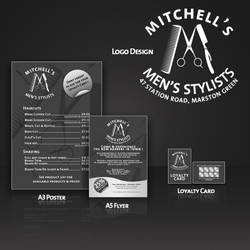 Mens Stylist Brand Identity by BlueBearGFX