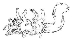 P2U Lazy Wolf Lineart