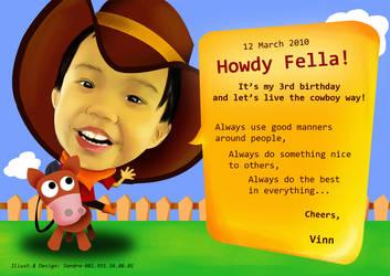 Little Cowboy's Birthday by NyOng-NyoNg
