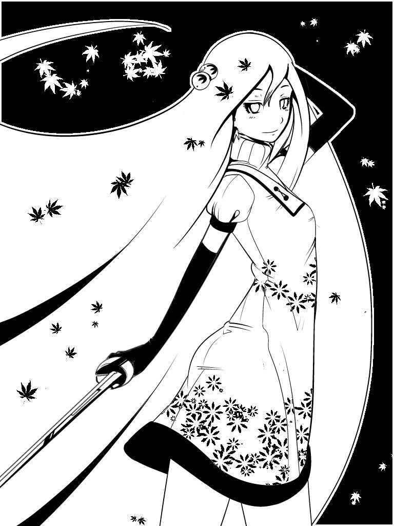 mujer con espada by XFiro
