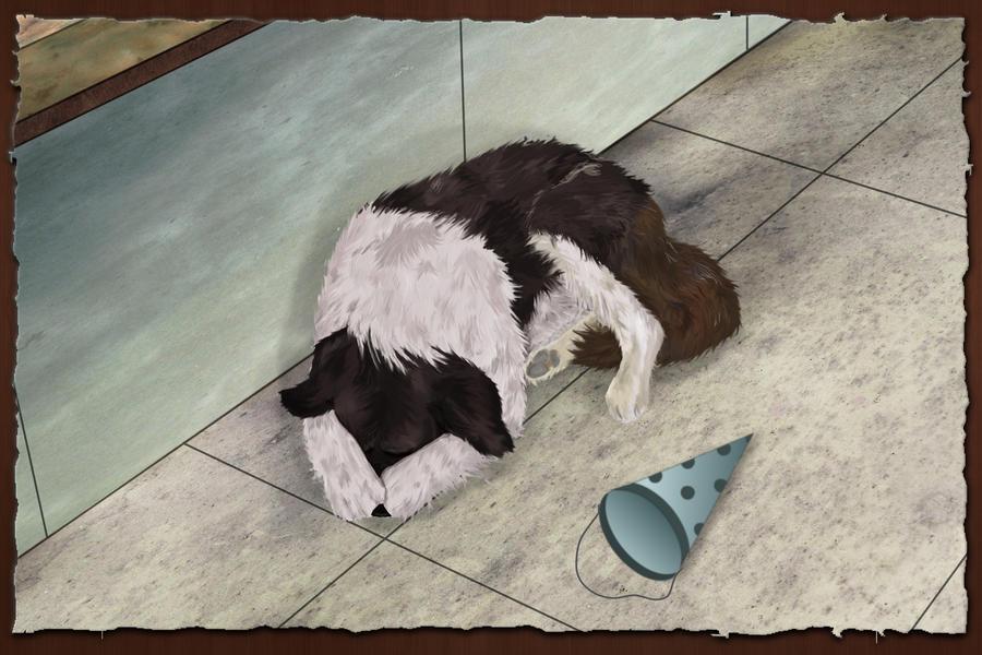 a dog ashamed by misinformedninja on deviantart