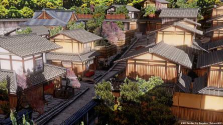 [MMD] Japanese Village Render by SakuraMIZ