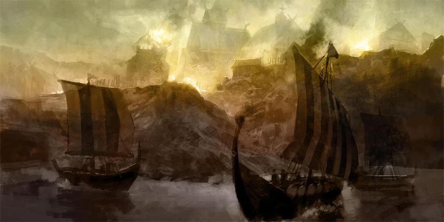 Viking Raid by ClintCearley