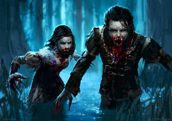 Vampire Outcast MTG by ClintCearley