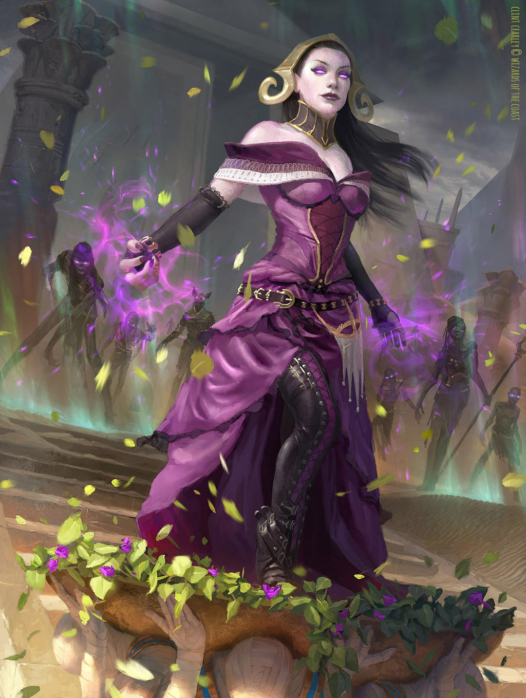 Liliana, Death Wielder - MTG by ClintCearley on DeviantArt Planeswalker Art