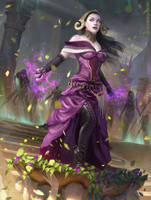 Liliana, Death Wielder - MTG by ClintCearley