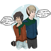 Winter Time: Julian and Ryan by pidgepudge