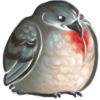Bleeding Heart Dove Borb by pidgepudge