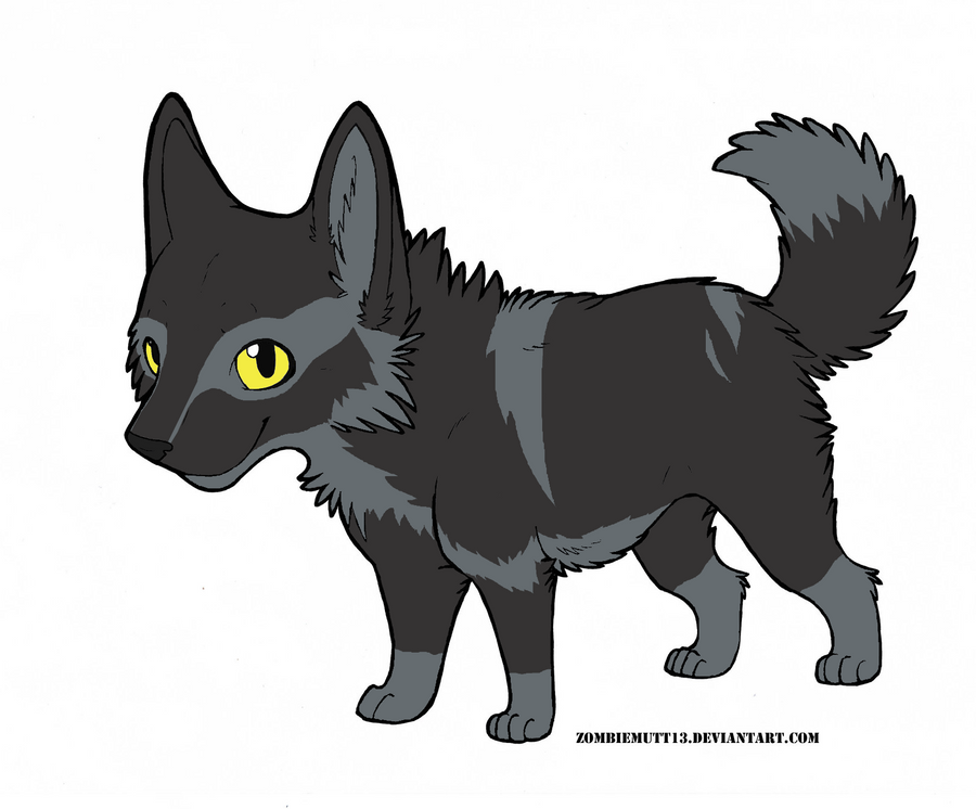 Chibi Wolf by D... Chibi Wolf Lineart