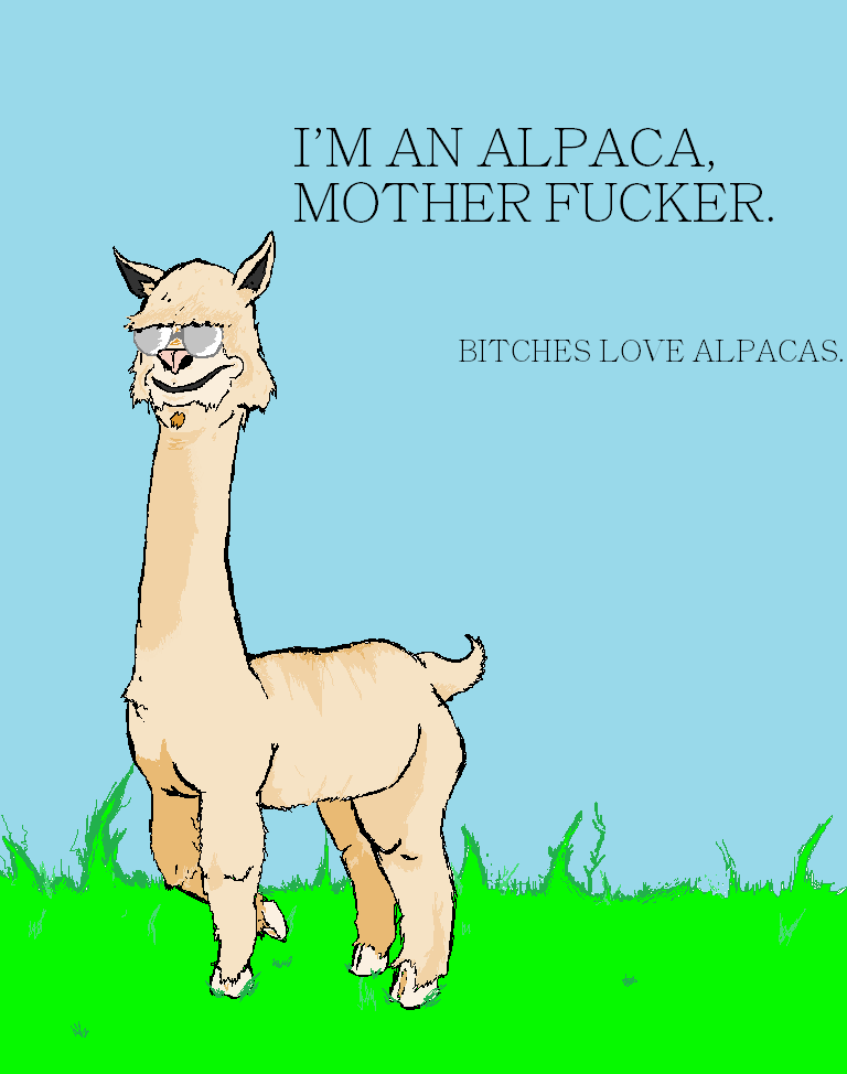 A motherfucking alpaca by ThePoliwrath