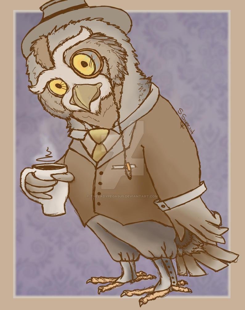 Gentleman owl by TheLadyPegasus