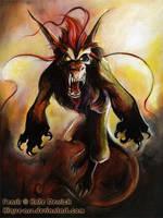 Fenrir Painted by kique-ass