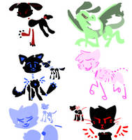 6 Adoptables by Emmabebe