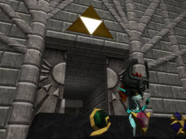 Midna messing with the stones by sonicgamer196