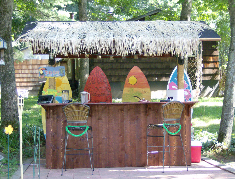 our homemade tiki bar by sillyartxd on deviantart