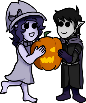 Pumpkins: Amalric and Lily
