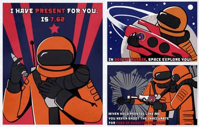 Cosmonauty Propaganda Posters