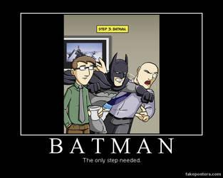 DM poster- step batman by riderkid