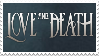 Love and Death Stamp by MonsterPanHead