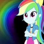 [Equestria Girls] Rainbow Dash Wallpaper