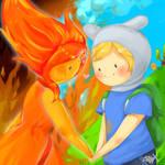 Finn and Flame Princess - AT Fanart