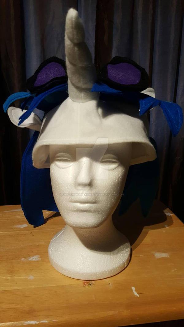 Vinyl Scratch pony hat by CrazyMamaMakesStuff