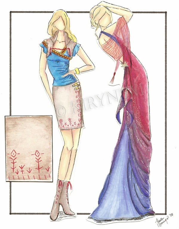 Fashion Sketches - Cultural Inspiration by Kirynism