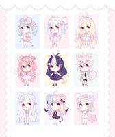 [CLOSED] ~ Baby Adoptables: Set Priced #1 ~ by intheyuukei