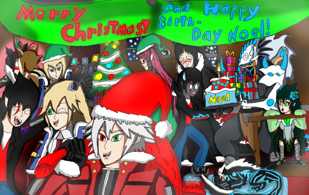 Merry Christmas and Happy Birthday Noel by brunolin