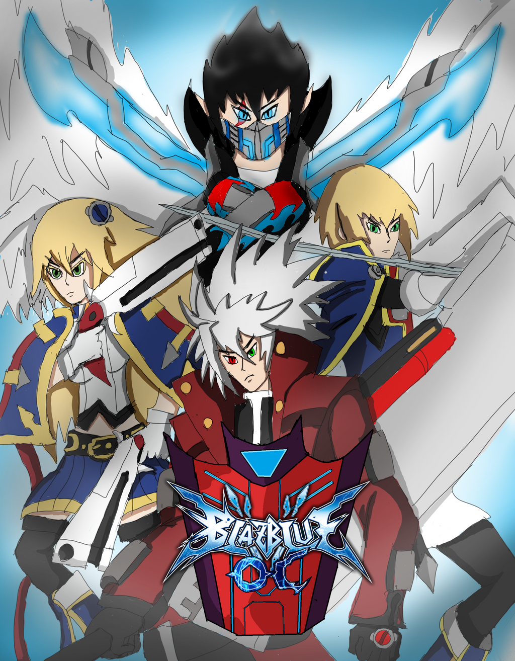 BlazBlue OC Team by brunolin