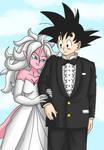 Goku and android 21 weding