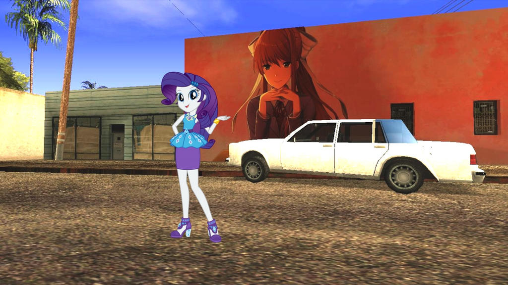 Rarity shows 'Just Monika' in East LS by Kleiner-Jay